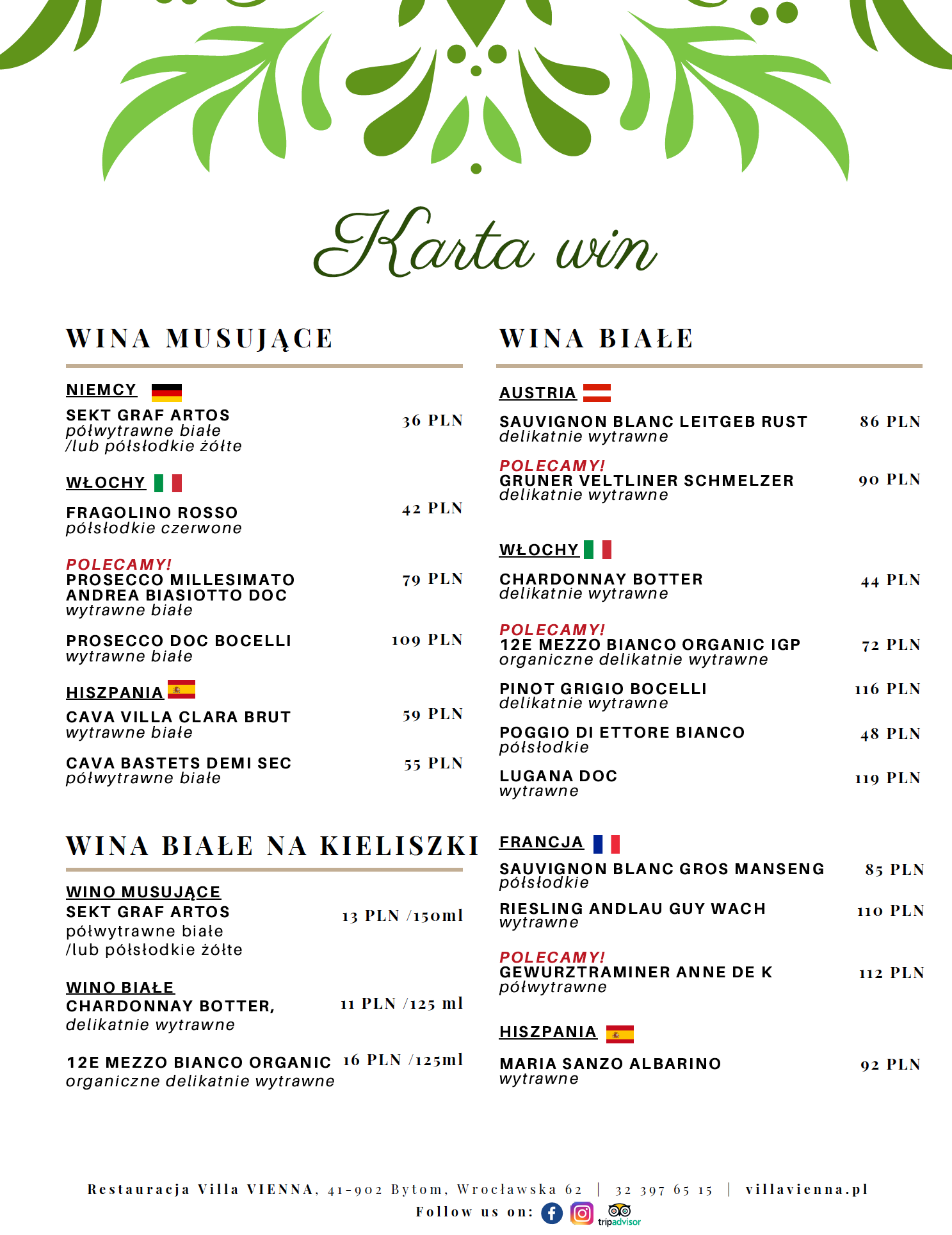 Menu-Villa-Vienna-Karta-Win-Białe